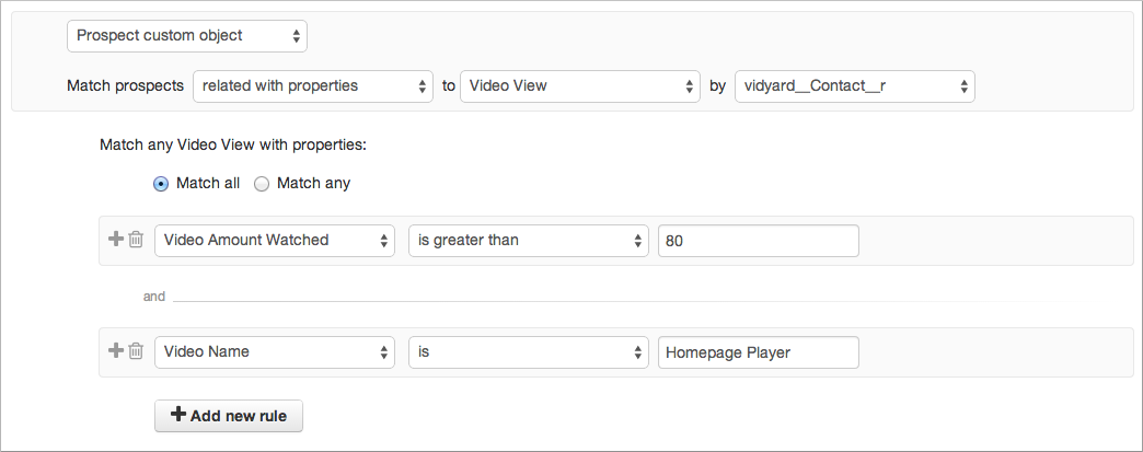 Video views properties.