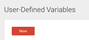 New button is directly under the User-Defined Variables sub-heading.