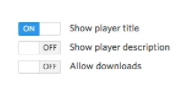Show player title & Show player description