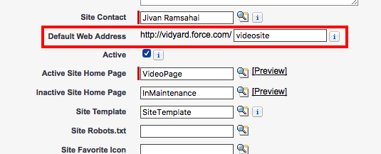 Example of force.com domain created in Step 2.